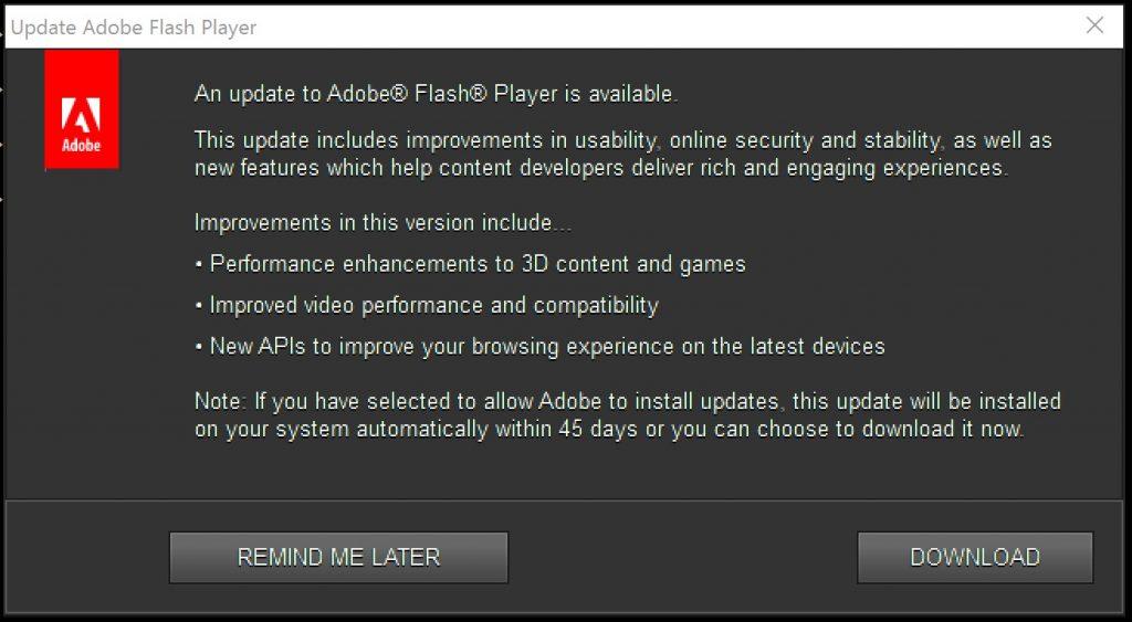Adobe Flash Player Registration key
