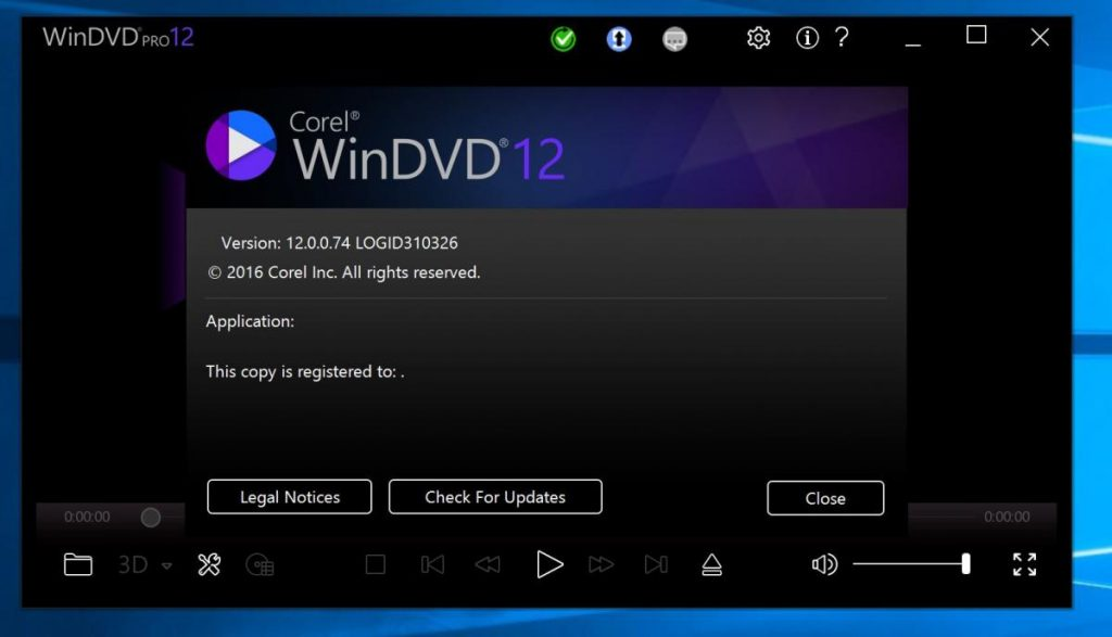 corel winDVD Registration key